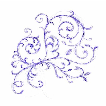 designer backgrounds - Floral ornament sketch for your design Stock Photo - Budget Royalty-Free & Subscription, Code: 400-05183075