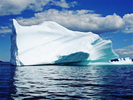 Ice Berg in Ocean off Newfoundland Stock Photo - Budget Royalty-Free & Subscription, Code: 400-05194731