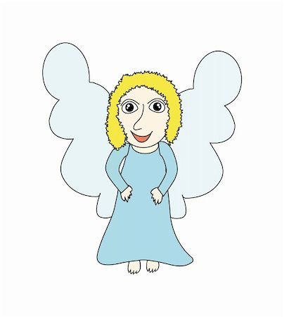 flying hearts clip art - nice angel isolated on background Stock Photo - Budget Royalty-Free & Subscription, Code: 400-05190368
