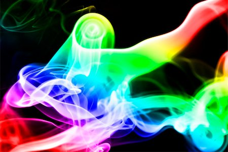 rainbow smoke background - colored smoke isolated  on a black background Stock Photo - Budget Royalty-Free & Subscription, Code: 400-05193966