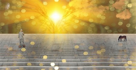 Stairway Landscape Stock Photo - Budget Royalty-Free & Subscription, Code: 400-05203318