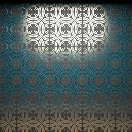 simsearch:400-05245734,k - illuminated tile wall made in 3D graphics Stock Photo - Budget Royalty-Free & Subscription, Code: 400-05216506