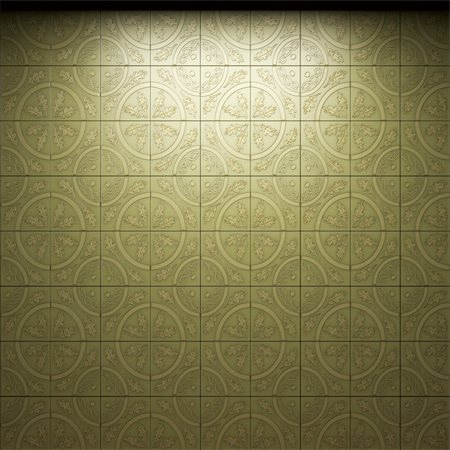 simsearch:400-05245734,k - illuminated tile wall made in 3D graphics Stock Photo - Budget Royalty-Free & Subscription, Code: 400-05216508