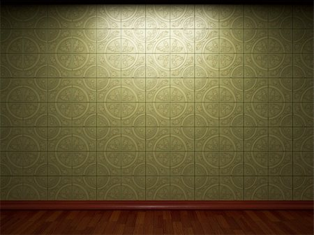 simsearch:400-05245734,k - illuminated tile wall made in 3D graphics Stock Photo - Budget Royalty-Free & Subscription, Code: 400-05216509