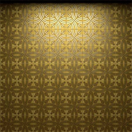 simsearch:400-05245734,k - illuminated tile wall made in 3D graphics Stock Photo - Budget Royalty-Free & Subscription, Code: 400-05216510