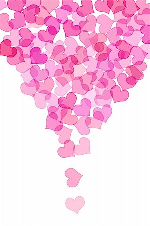 simsearch:400-04597082,k - some pink hearts drawn on a white background Stock Photo - Budget Royalty-Free & Subscription, Code: 400-05216678