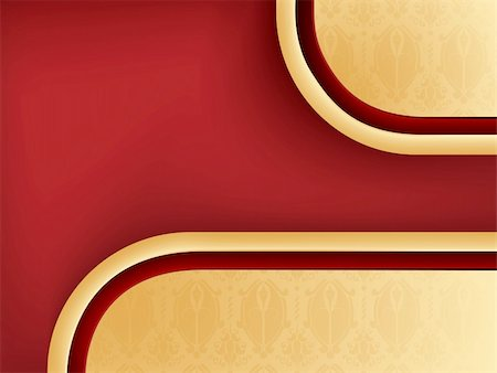 simsearch:400-04872199,k - Damask Seamless Background with Red Copyspace. Editable Vector Image Stock Photo - Budget Royalty-Free & Subscription, Code: 400-05217200