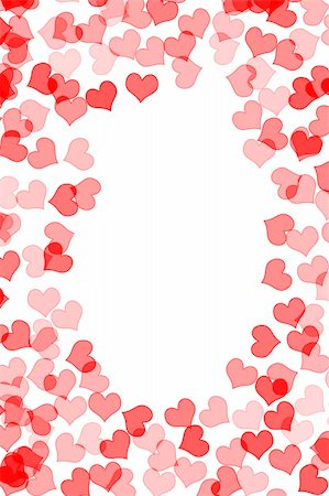 simsearch:400-04597082,k - frame made with several red hearts drawn on a white background Stock Photo - Budget Royalty-Free & Subscription, Code: 400-05217214