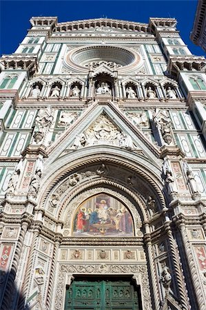 Frontal bas-reliefs of the Florence Cathedral, Italy Stock Photo - Budget Royalty-Free & Subscription, Code: 400-05225555