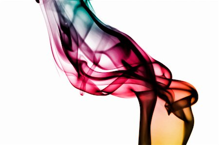rainbow smoke background - colored smoke isolated on a white background Stock Photo - Budget Royalty-Free & Subscription, Code: 400-05227070