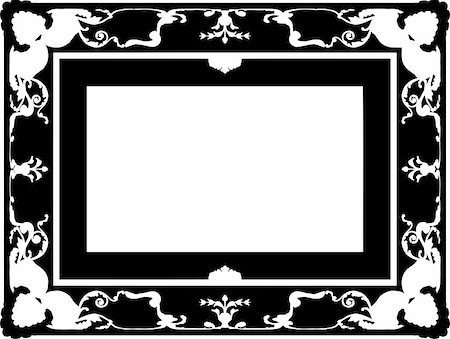 simsearch:400-04872199,k - vintage frame made in vector Stock Photo - Budget Royalty-Free & Subscription, Code: 400-05228969