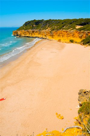 A view of Cala Fonda beach, in Tarragona, Spain Stock Photo - Budget Royalty-Free & Subscription, Code: 400-05229369