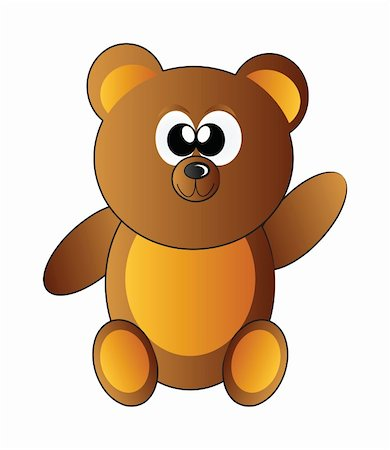 simsearch:400-04598294,k - little happy teddy bear isolated on white background Stock Photo - Budget Royalty-Free & Subscription, Code: 400-05221882
