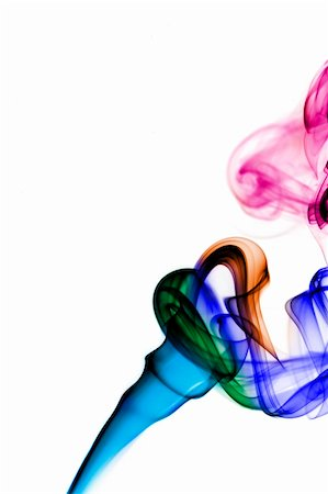 rainbow smoke background - colored smoke isolated on a white background Stock Photo - Budget Royalty-Free & Subscription, Code: 400-05222402