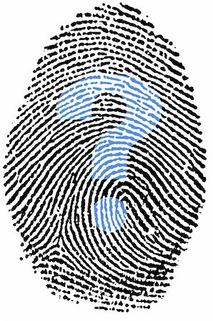 question mark crime - My unknown Fingerprint Stock Photo - Budget Royalty-Free & Subscription, Code: 400-05223022