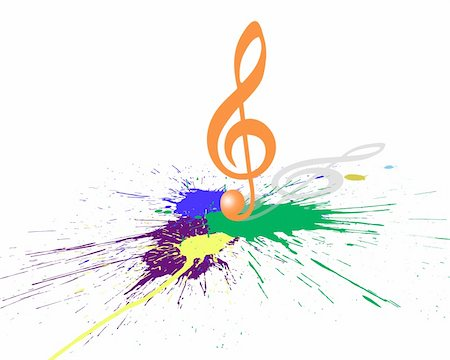 simsearch:400-04676325,k - Vector musical notes staff background for design use Stock Photo - Budget Royalty-Free & Subscription, Code: 400-05234363