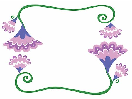 illustration drawing of beautiful purple flower pattern Stock Photo - Budget Royalty-Free & Subscription, Code: 400-05234393