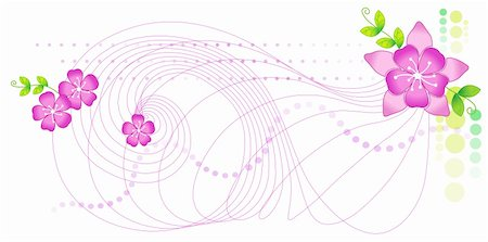 flores - illustration drawing of some beautiful pink sakura flowers Stock Photo - Budget Royalty-Free & Subscription, Code: 400-05234532