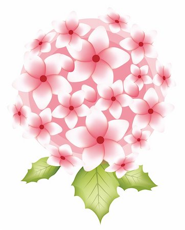 simsearch:400-04697977,k - illustration drawing of pink flower with leaves Stock Photo - Budget Royalty-Free & Subscription, Code: 400-05234543