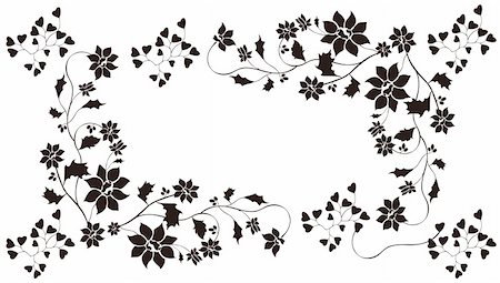 simsearch:400-05235216,k - drawing of flower in a white background Stock Photo - Budget Royalty-Free & Subscription, Code: 400-05235224