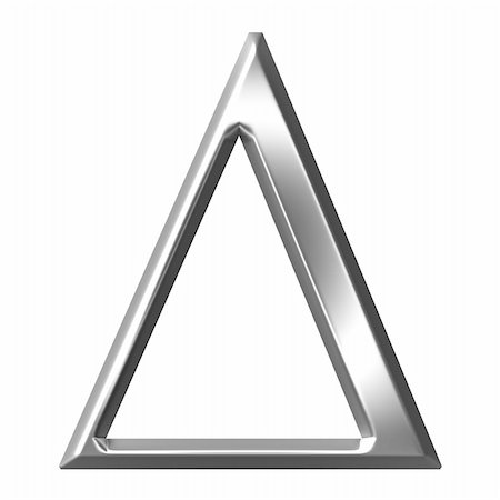 fancy letters - 3d silver Greek letter Delta isolated in white Stock Photo - Budget Royalty-Free & Subscription, Code: 400-05235445