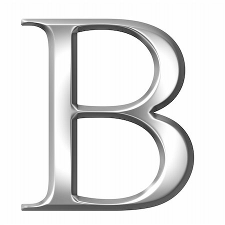 fancy letters - 3d silver Greek letter Beta isolated in white Stock Photo - Budget Royalty-Free & Subscription, Code: 400-05235442