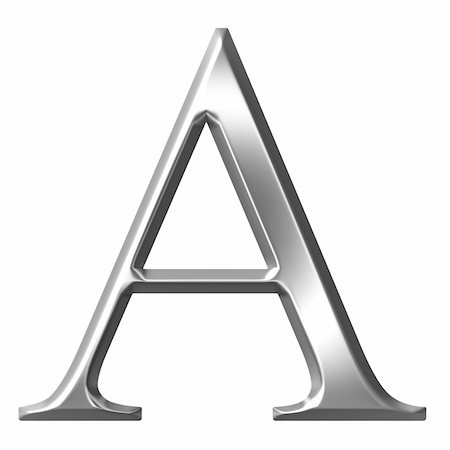 fancy letters - 3d silver Greek letter Alpha isolated in white Stock Photo - Budget Royalty-Free & Subscription, Code: 400-05235443