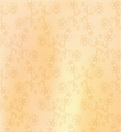 simsearch:400-05235216,k - illustration drawing of beautiful yellow flower pattern Stock Photo - Budget Royalty-Free & Subscription, Code: 400-05235565