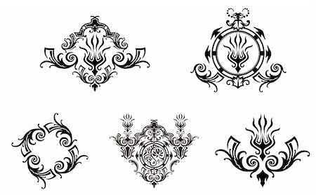 simsearch:400-05235216,k - drawing of flower pattern in a white background Stock Photo - Budget Royalty-Free & Subscription, Code: 400-05235580