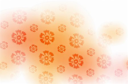 simsearch:400-05235216,k - illustration drawing of beautiful orange flower pattern Stock Photo - Budget Royalty-Free & Subscription, Code: 400-05235664