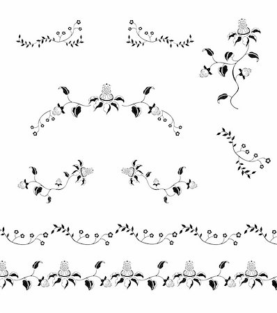 simsearch:400-05235216,k - drawing of flower pattern in a white background Stock Photo - Budget Royalty-Free & Subscription, Code: 400-05235944