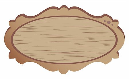 drawing of beautiful wood banner in a white background Stock Photo - Budget Royalty-Free & Subscription, Code: 400-05236240
