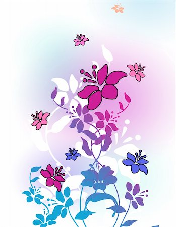 simsearch:400-04697977,k - drawing of beautiful flower in a colourful background Stock Photo - Budget Royalty-Free & Subscription, Code: 400-05236583