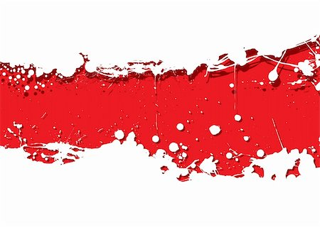 paint dripping abstract pattern - Red background with white ink splat background and shadow Stock Photo - Budget Royalty-Free & Subscription, Code: 400-05236726