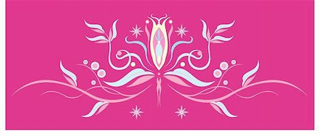 simsearch:400-05235216,k - drawing of beautiful flower pattern in a pink background Stock Photo - Budget Royalty-Free & Subscription, Code: 400-05237900