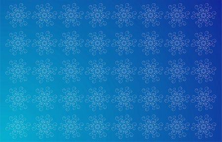 simsearch:400-05235216,k - illustration drawing of flower in a blue background Stock Photo - Budget Royalty-Free & Subscription, Code: 400-05237902