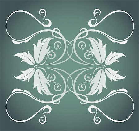 simsearch:400-05235216,k - illustration drawing of beautiful white flower pattern in deep color background Stock Photo - Budget Royalty-Free & Subscription, Code: 400-05238618