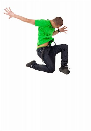 cool looking dancer posing on a white background Stock Photo - Budget Royalty-Free & Subscription, Code: 400-05238779