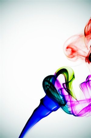 rainbow smoke background - colored smoke on a degraded white background Stock Photo - Budget Royalty-Free & Subscription, Code: 400-05230624