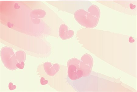 illustration drawing of watercolor background with heart shape Stock Photo - Budget Royalty-Free & Subscription, Code: 400-05231555
