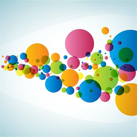 A Different Colors of Circle, Lines, Gradient Color, Sky Blue Background, Green, Blue, Orange, Yellow Circles, Abstract Design, Designs Element Stock Photo - Budget Royalty-Free & Subscription, Code: 400-05231583