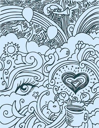 An image of a Love Doodle. Stock Photo - Budget Royalty-Free & Subscription, Code: 400-05231676
