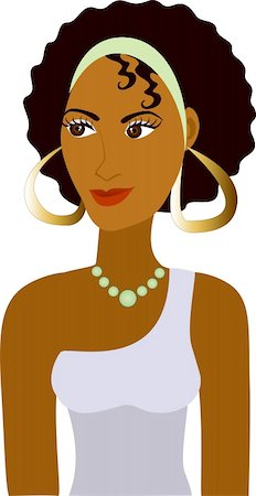 Vector of Afro Girl Avatar. See others in this series. Stock Photo - Budget Royalty-Free & Subscription, Code: 400-05232598