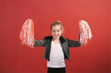 cheerleader child center Stock Photo - Budget Royalty-Free & Subscription, Code: 400-05232704