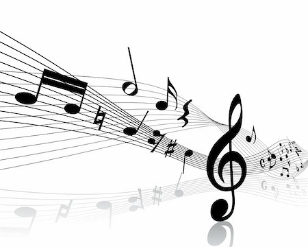 Vector musical notes staff background for design use Stock Photo - Budget Royalty-Free & Subscription, Code: 400-05232812