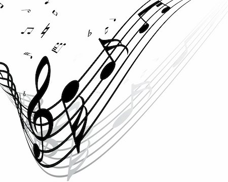 simsearch:400-04676325,k - Vector musical notes staff background for design use Stock Photo - Budget Royalty-Free & Subscription, Code: 400-05232813