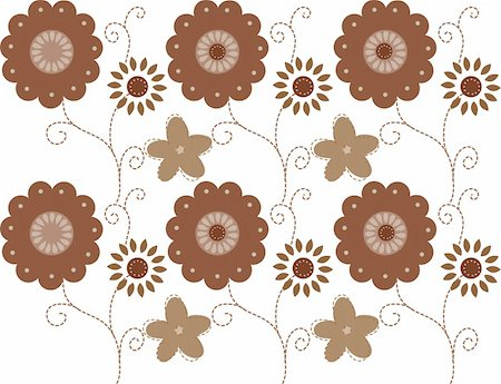simsearch:400-05235216,k - a beautiful drawing of brown flower pattern Stock Photo - Budget Royalty-Free & Subscription, Code: 400-05233429