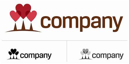 Three heart tree logo Stock Photo - Budget Royalty-Free & Subscription, Code: 400-05244483