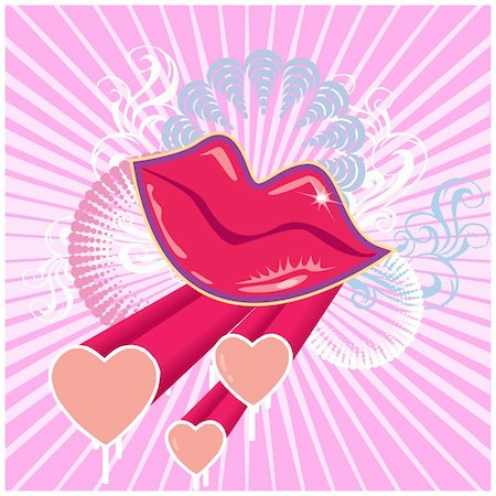 Set of Valentine's day grunge banner. Vector illustration Stock Photo - Budget Royalty-Free & Subscription, Code: 400-05248629