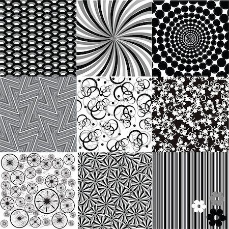 Set of black and white backgrounds Stock Photo - Budget Royalty-Free & Subscription, Code: 400-05249369